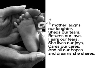 a mother laughs our laughter