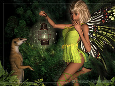 forest fairy with lantern