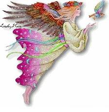 fairy flying after bird