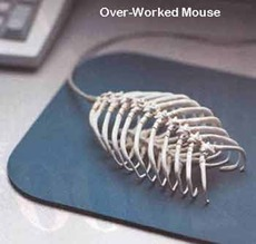 over worked mouse