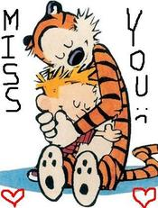 miss you - calvin and hobbes