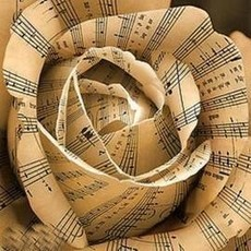 musical notes flower