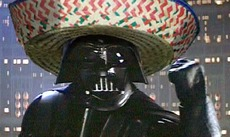 darth vader with a sombrero