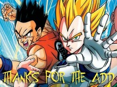 thanks for the add dragonball z