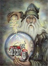 wizard motorcycle globe