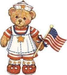 Patriotic teddy bear
