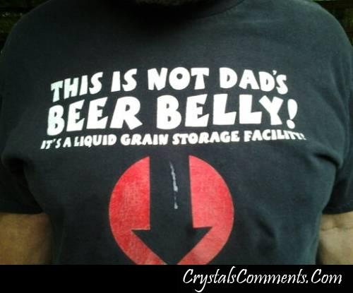 This is not dad's beer belly!