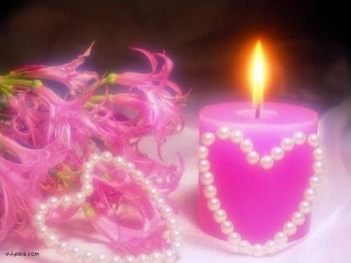 pink candle