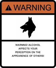warning alcohol affects your perception on the appearence of others