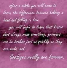 goodbyes really are forever quote