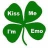 kiss my i'm emo four leaf clover