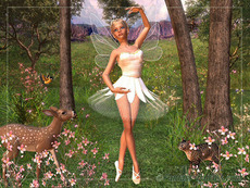 forest fairy dancing with deer