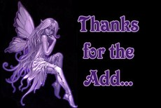 thanks for the add purple fairy