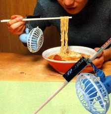 fan on chopsticks