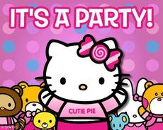 it's a party hello kitty cutie pie