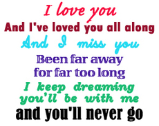 i love you i miss you