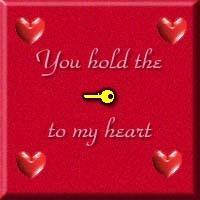 you hold the key to my heart