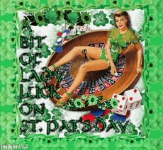 bit of lady luck on st pats day
