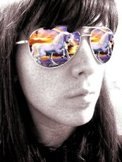 unicorns reflection in sunglasses