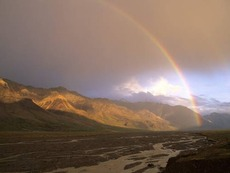 Rainbow Over the Toklat Valley