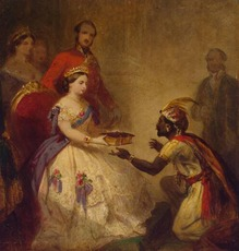 Queen Victoria Giving the Bible to an African Chief